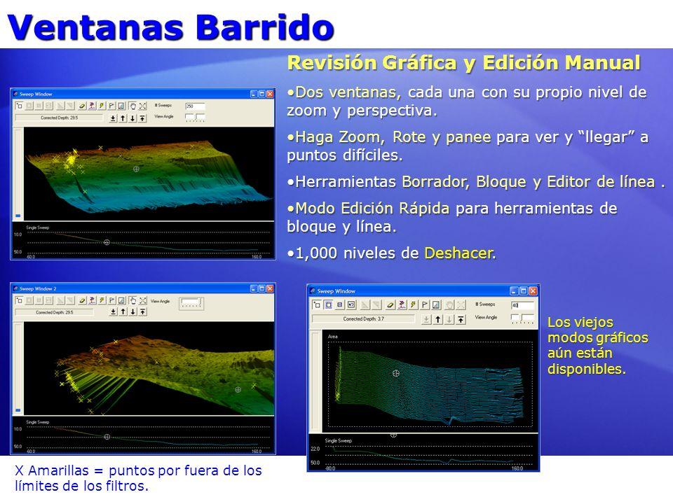 Ventanas Barrido Revisión Gráfica y Edición Manual