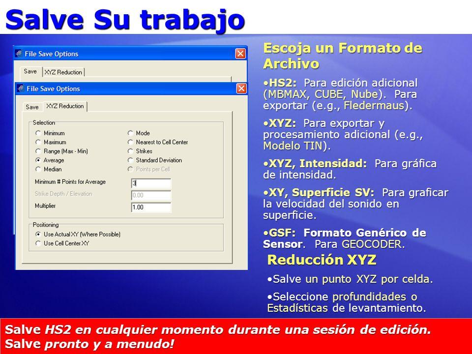Salve Su trabajo Escoja un Formato de Archivo Reducción XYZ