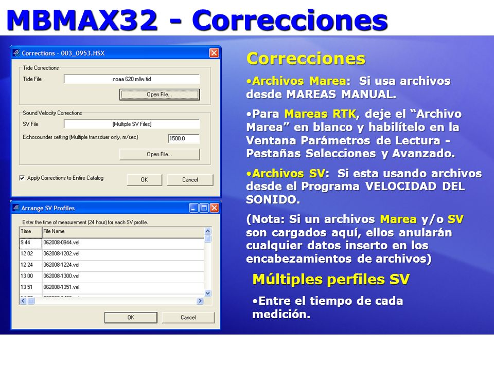 MBMAX32 - Correcciones Correcciones Múltiples perfiles SV
