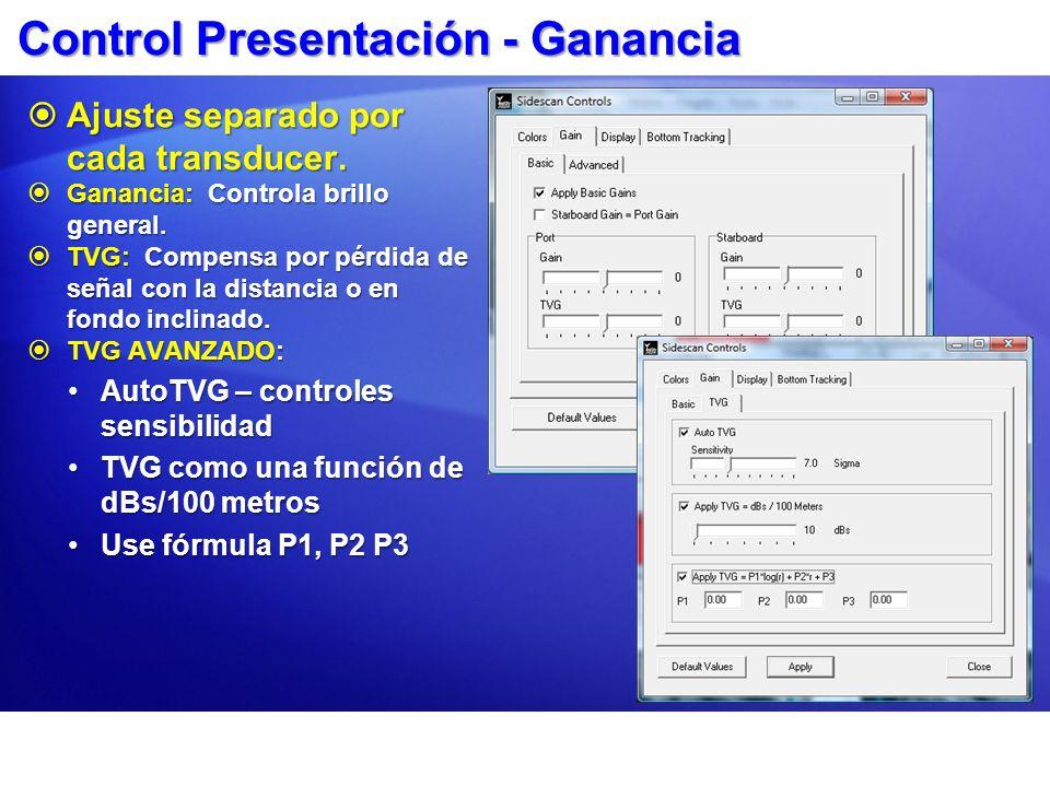 Control Presentación - Ganancia