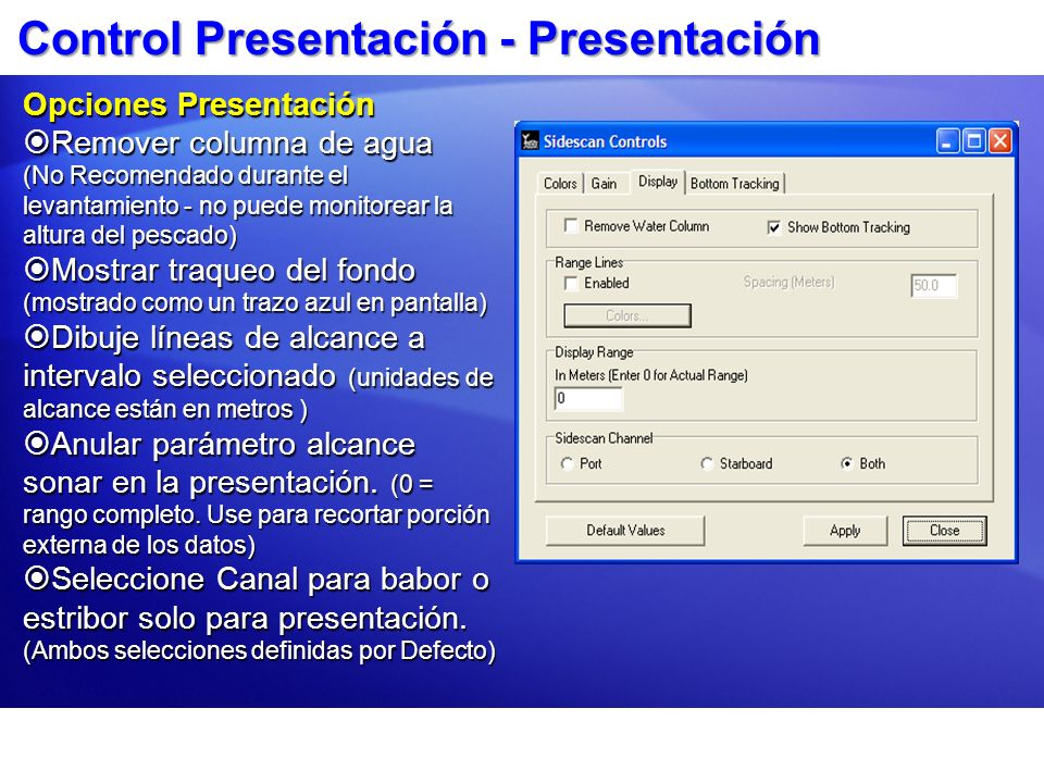Control Presentación - Presentación