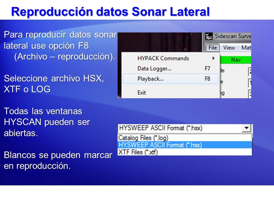 Reproducción datos Sonar Lateral