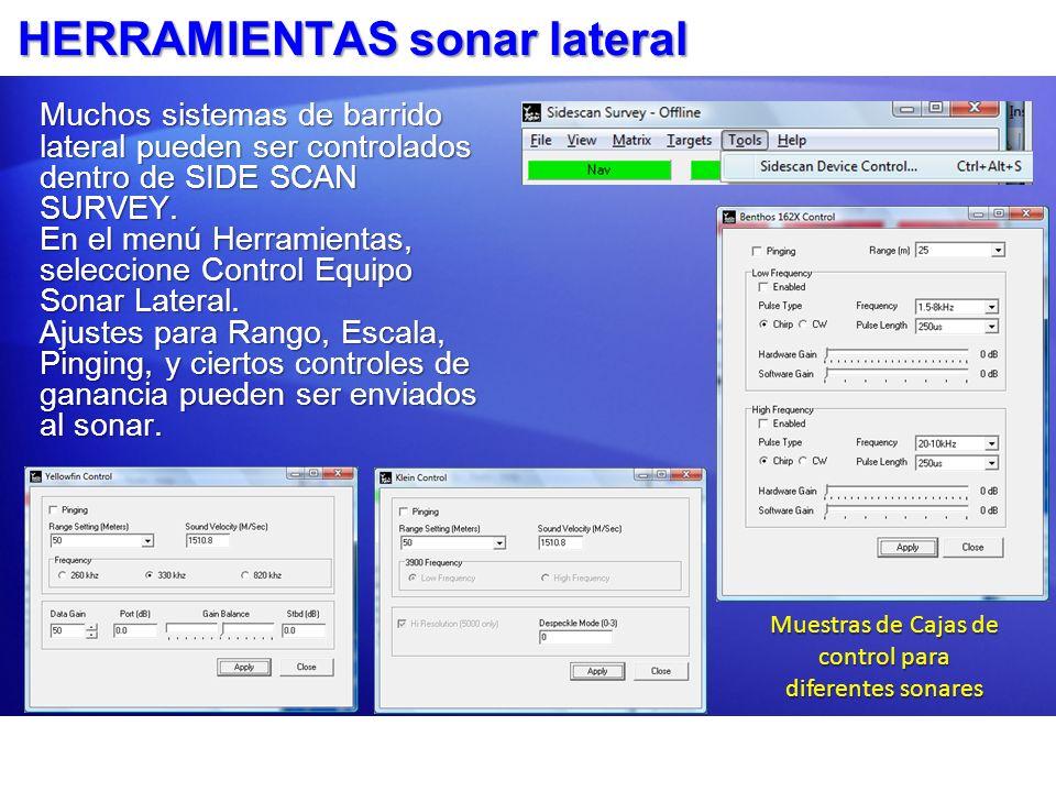 HERRAMIENTAS sonar lateral