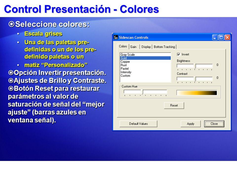 Control Presentación - Colores
