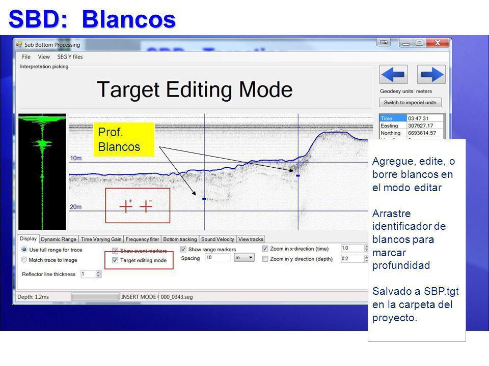 SBD: Blancos Prof. Blancos