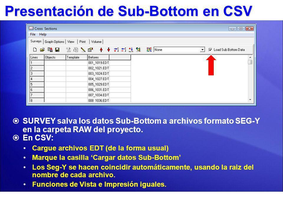 Presentación de Sub-Bottom en CSV