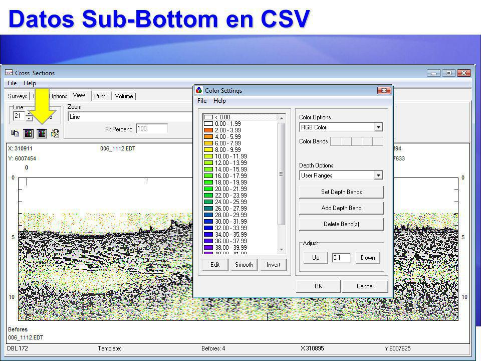Datos Sub-Bottom en CSV