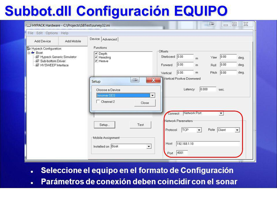 Subbot.dll Configuración EQUIPO