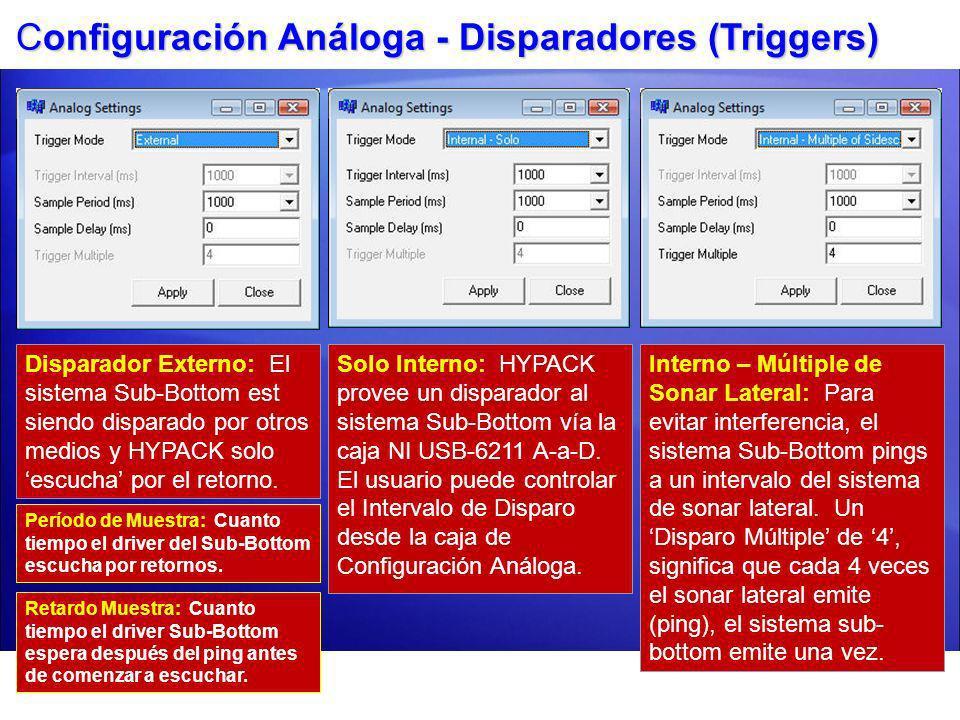 Configuración Análoga - Disparadores (Triggers)