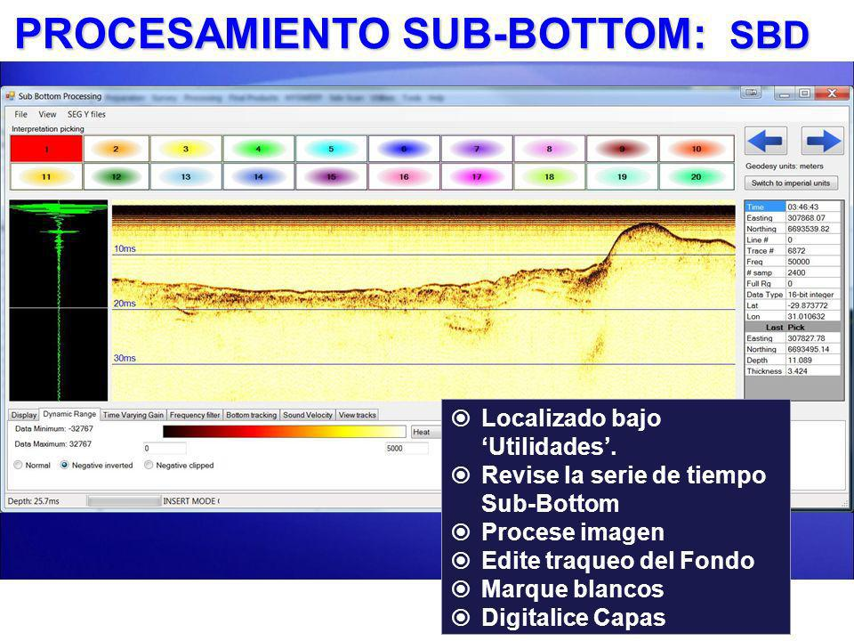 PROCESAMIENTO SUB-BOTTOM: SBD