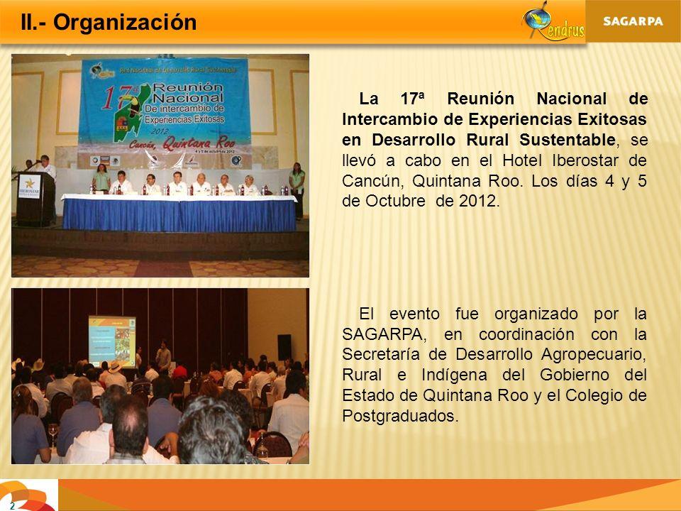 II.- Organización