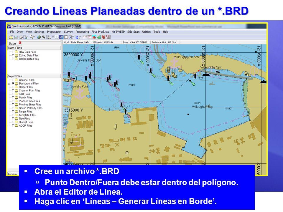 Creando Líneas Planeadas dentro de un *.BRD
