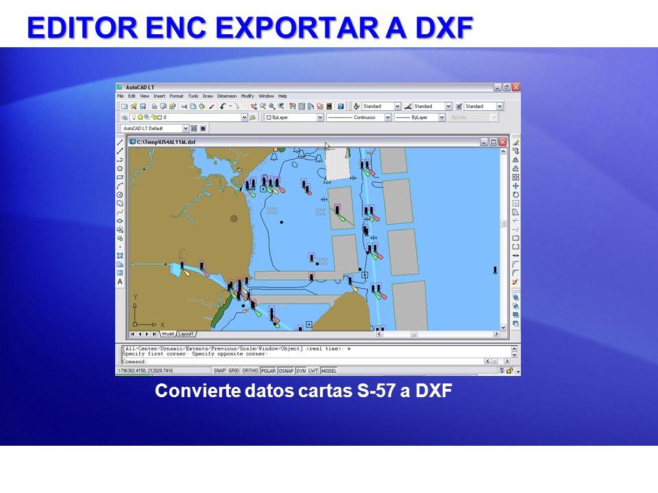 EDITOR ENC EXPORTAR A DXF
