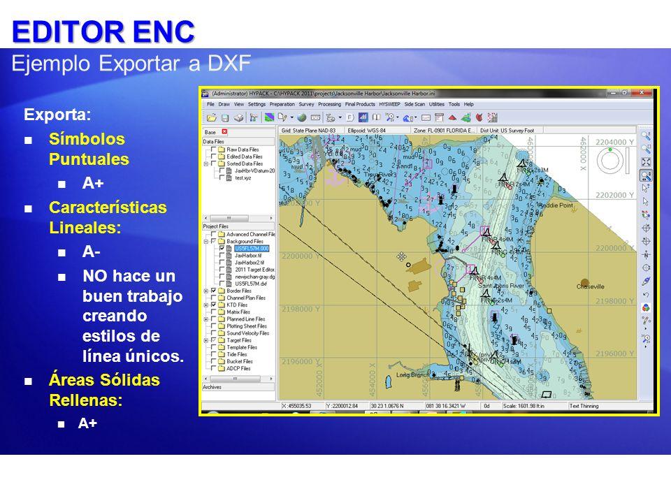 EDITOR ENC Ejemplo Exportar a DXF
