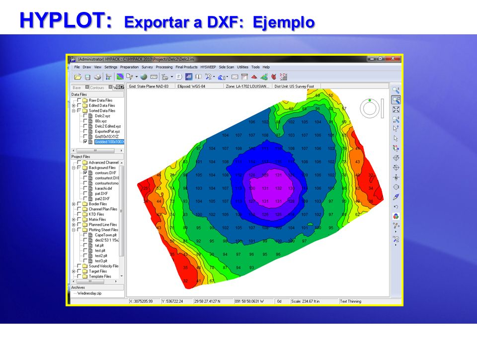 HYPLOT: Exportar a DXF: Ejemplo