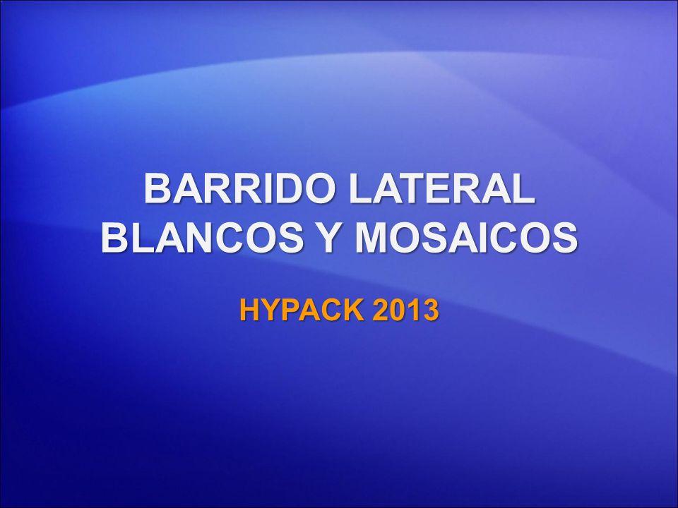 BARRIDO LATERAL BLANCOS Y MOSAICOS