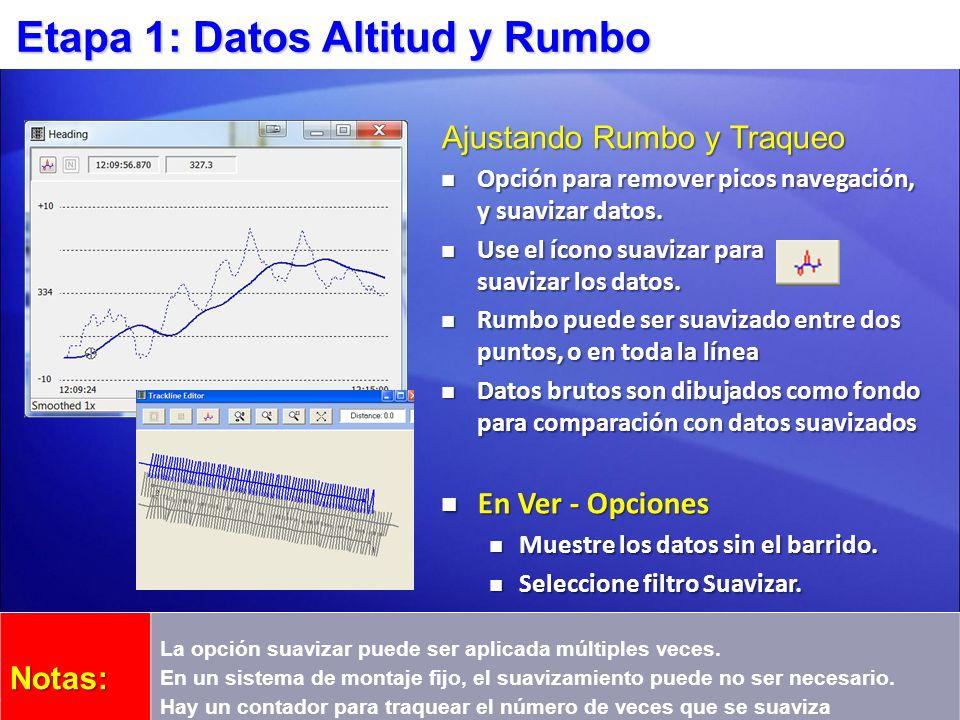 Etapa 1: Datos Altitud y Rumbo