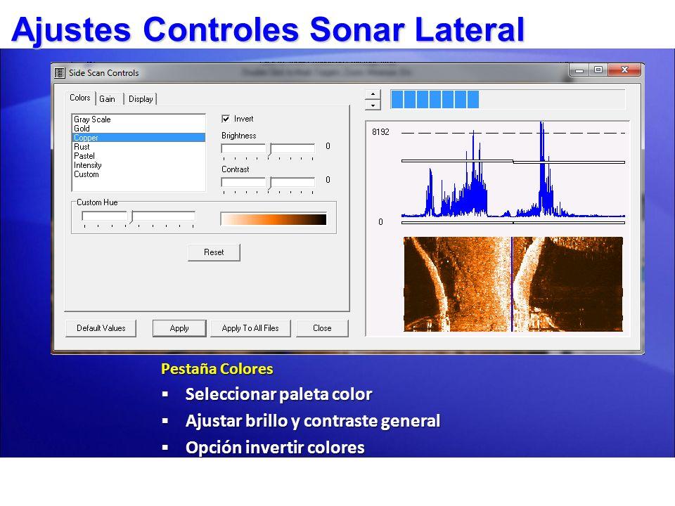 Ajustes Controles Sonar Lateral