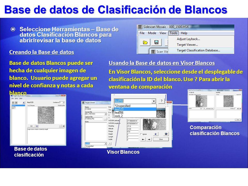 Base de datos de Clasificación de Blancos