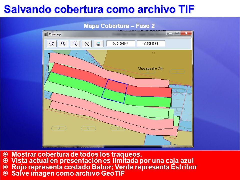 Salvando cobertura como archivo TIF