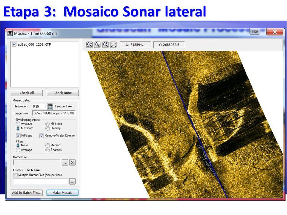 Etapa 3: Mosaico Sonar lateral