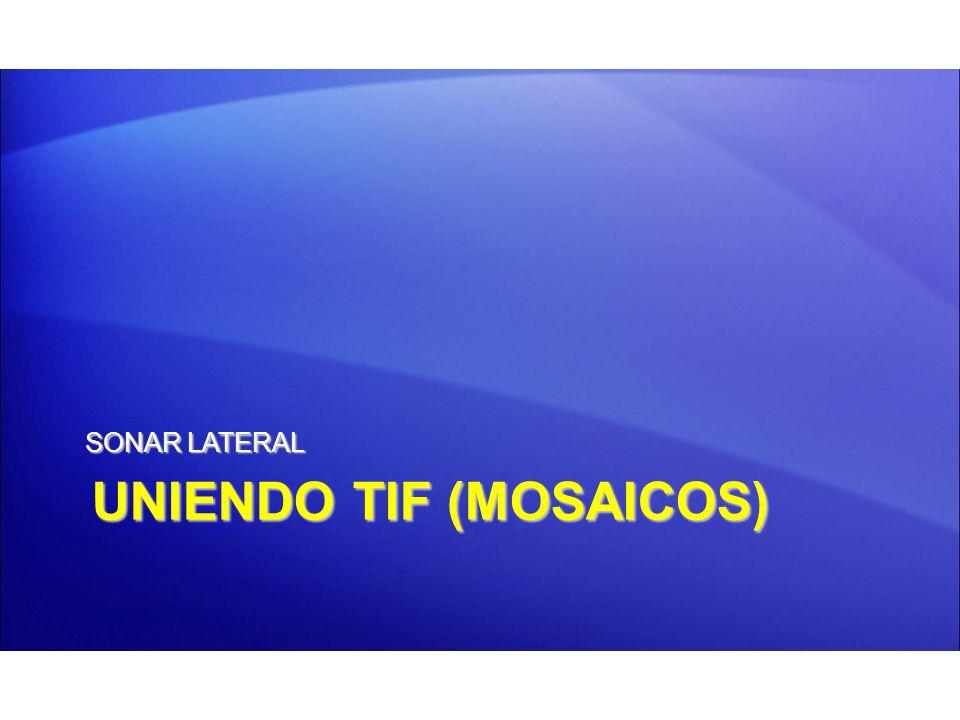 UNIENDO TIF (MOSAICOS)