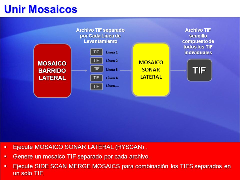 Unir Mosaicos TIF MOSAICO MOSAICO SONAR LATERAL BARRIDO LATERAL