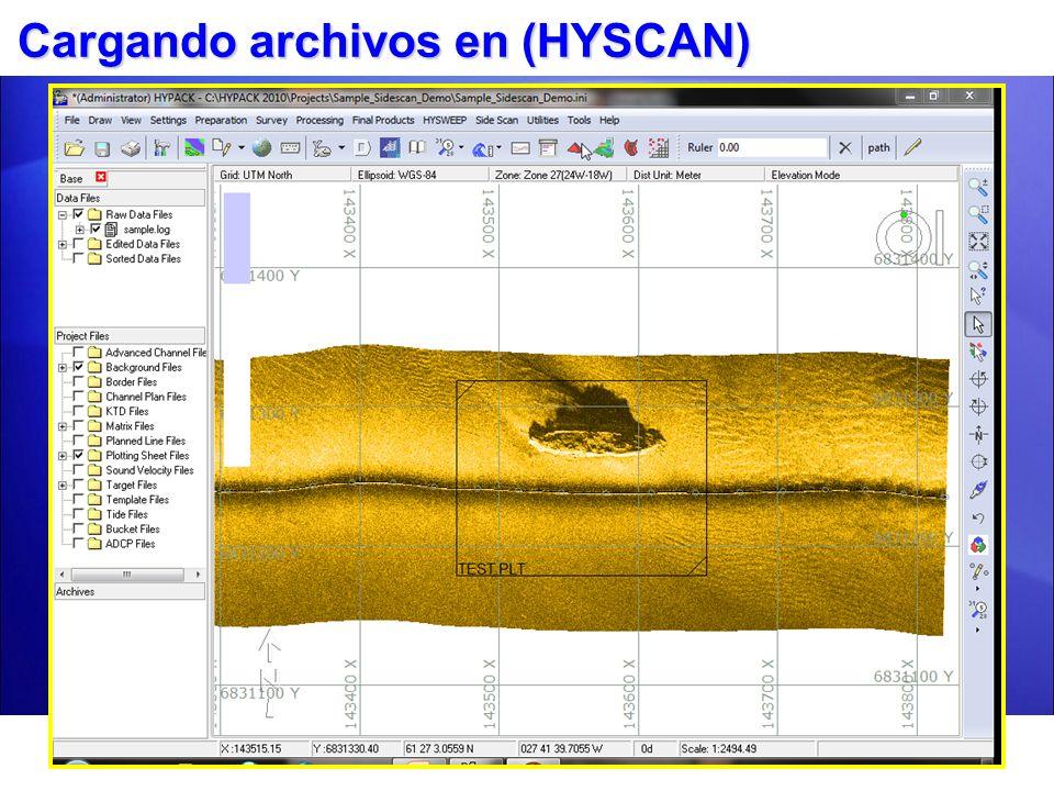 Cargando archivos en (HYSCAN)