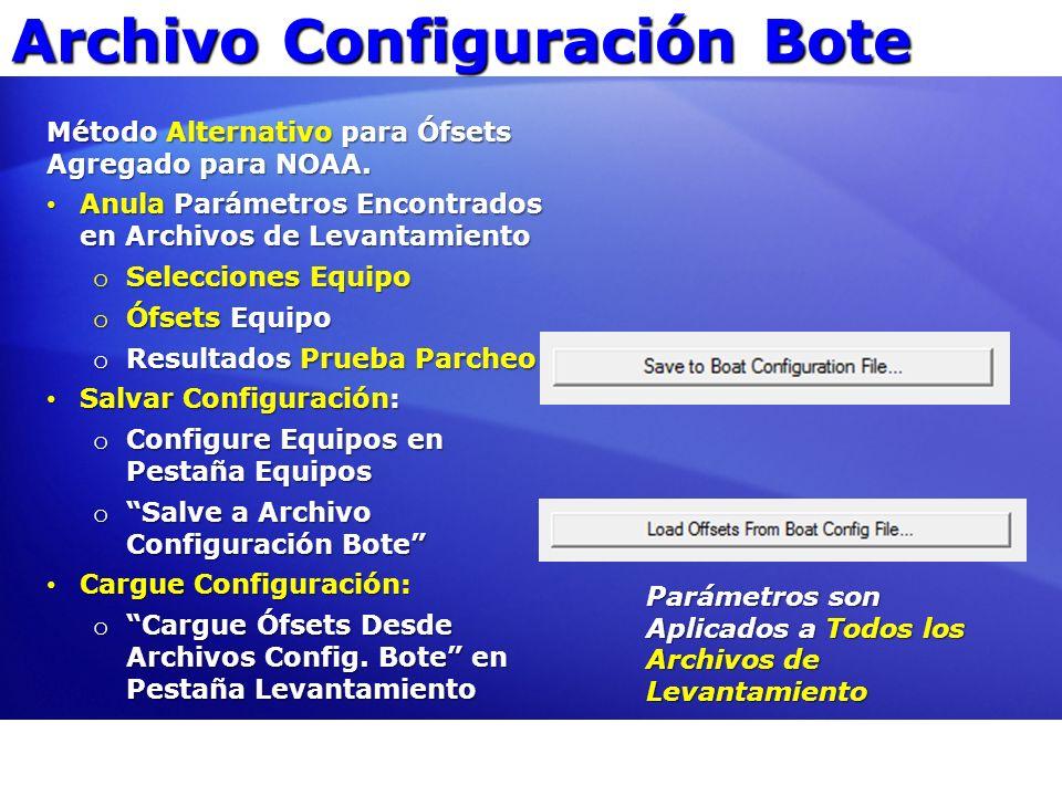 Archivo Configuración Bote