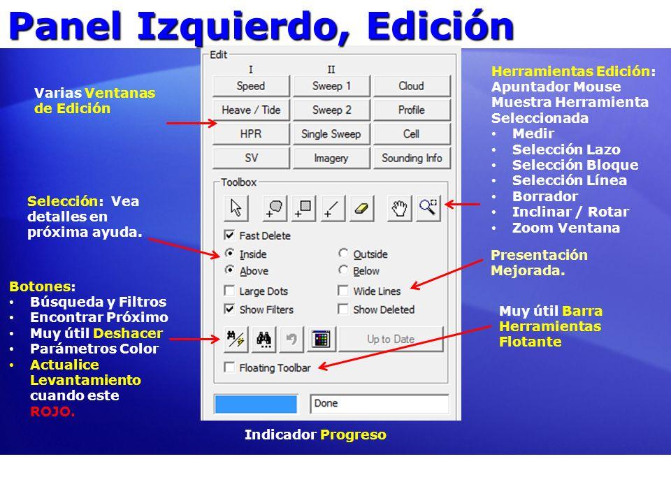 Panel Izquierdo, Edición