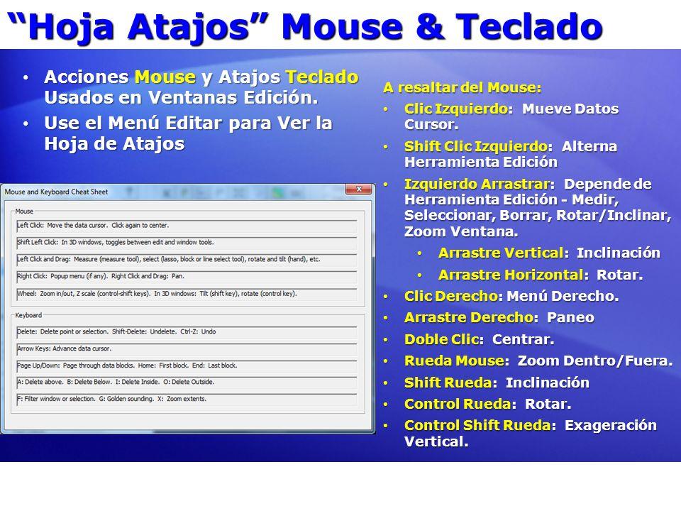 Hoja Atajos Mouse & Teclado