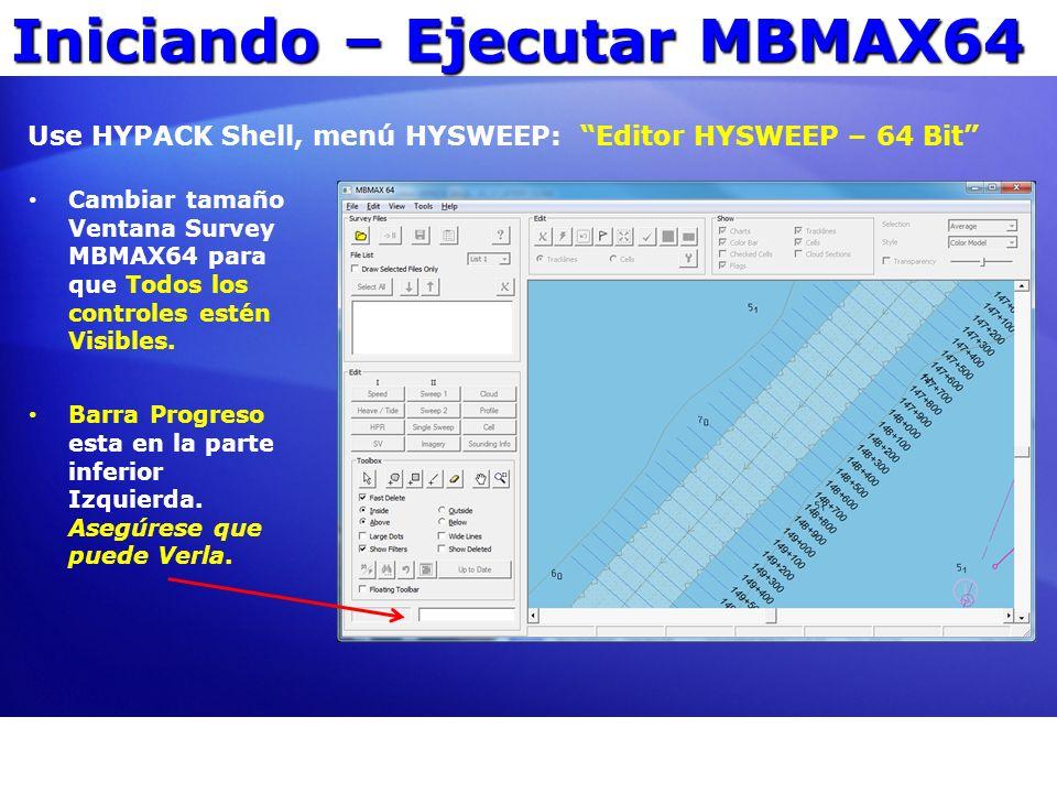 Iniciando – Ejecutar MBMAX64