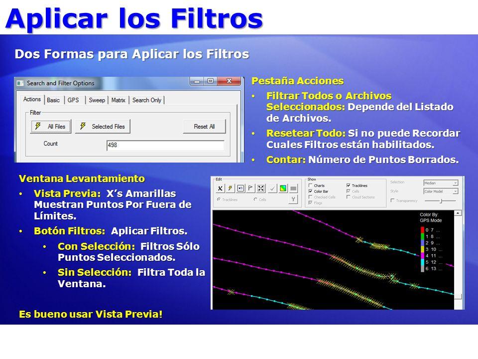 Aplicar los Filtros Dos Formas para Aplicar los Filtros