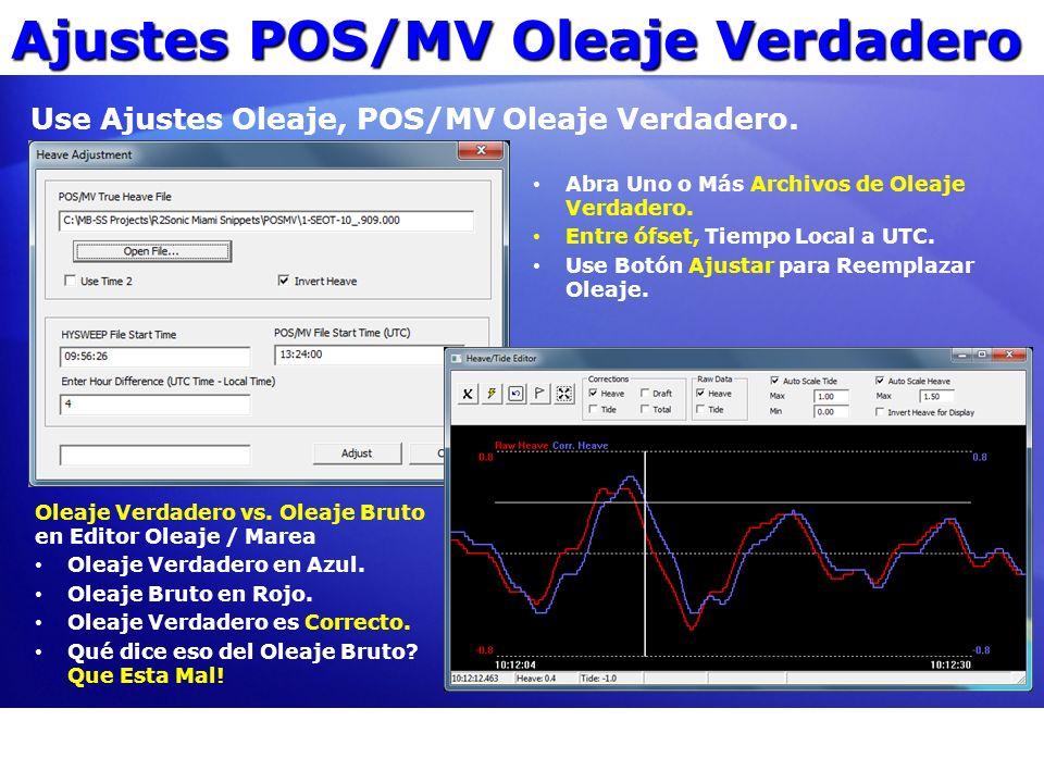 Ajustes POS/MV Oleaje Verdadero
