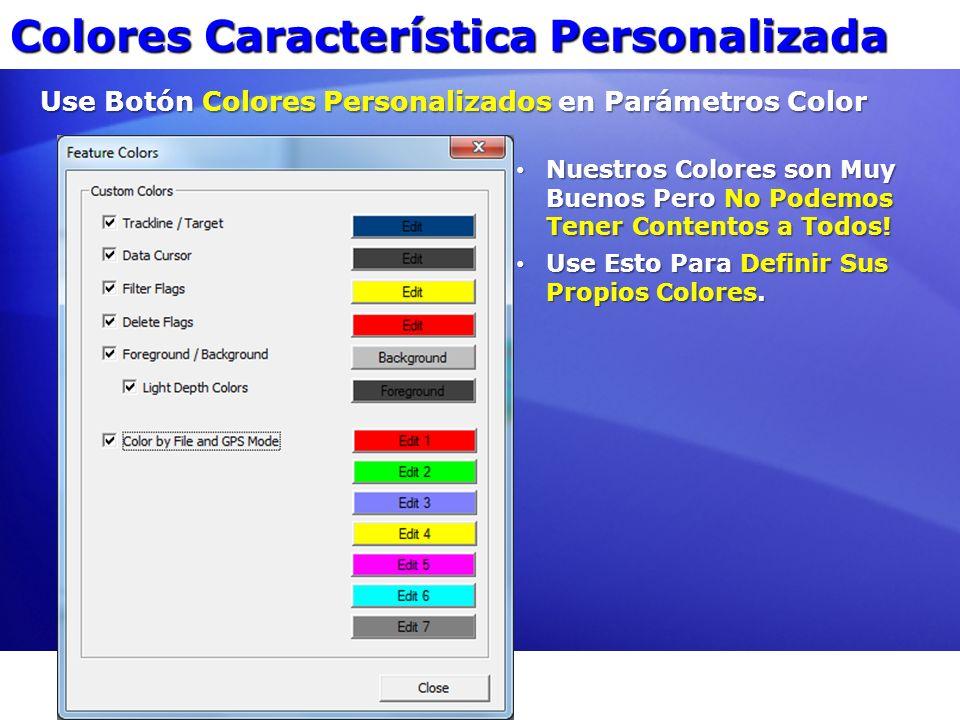 Colores Característica Personalizada