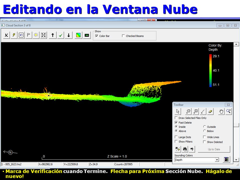 Editando en la Ventana Nube