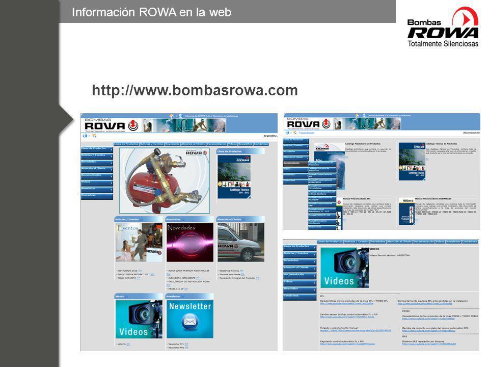 Información ROWA en la web