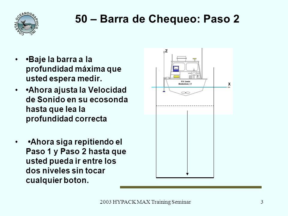 50 – Barra de Chequeo: Paso 2