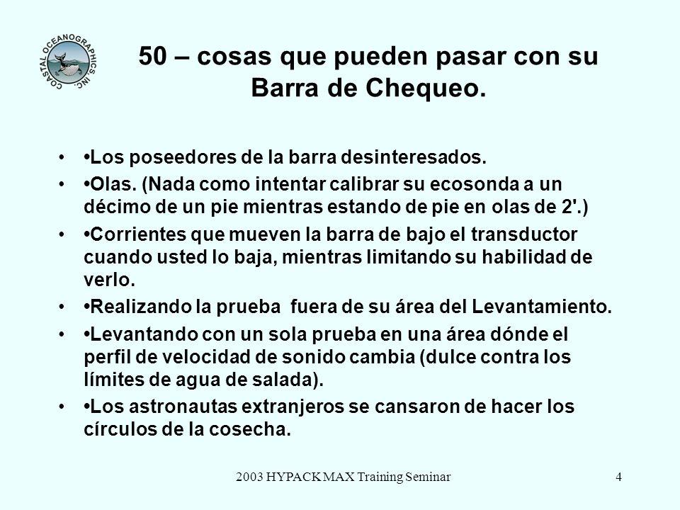50 – cosas que pueden pasar con su Barra de Chequeo.