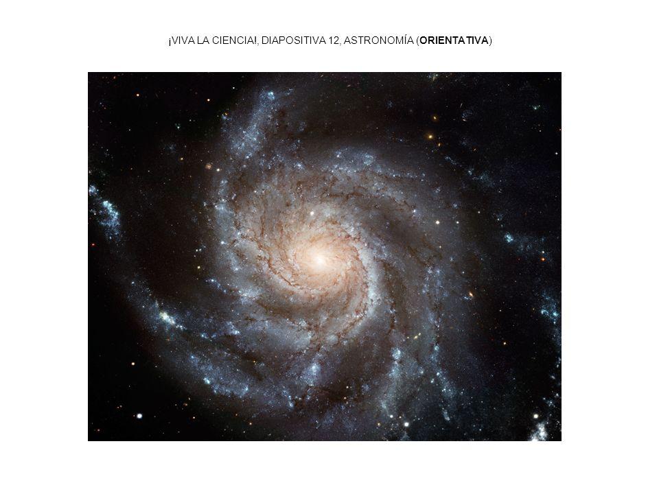 ¡VIVA LA CIENCIA!, DIAPOSITIVA 12, ASTRONOMÍA (ORIENTATIVA)