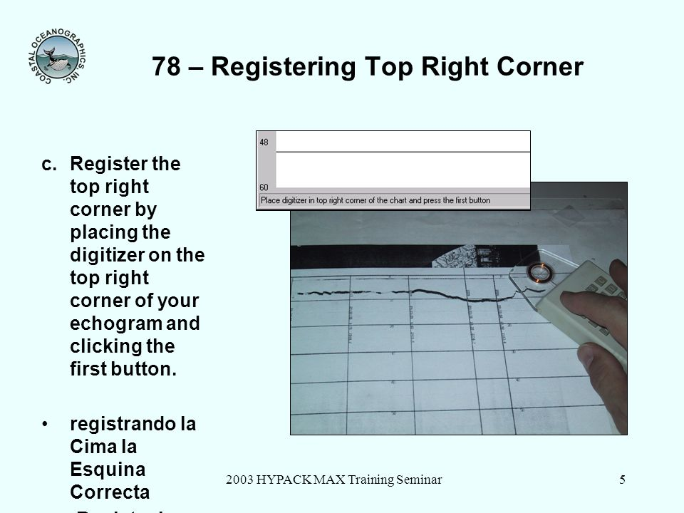 78 – Registering Top Right Corner
