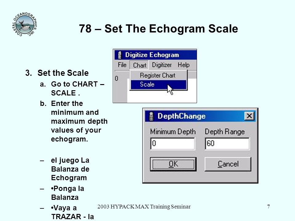 78 – Set The Echogram Scale