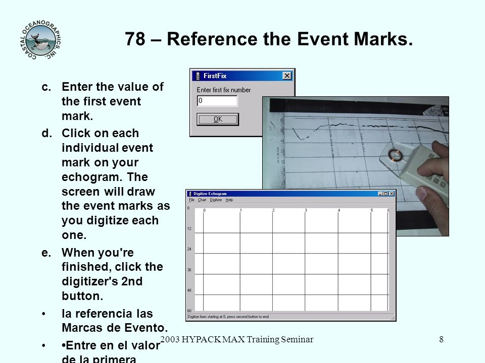 78 – Reference the Event Marks.