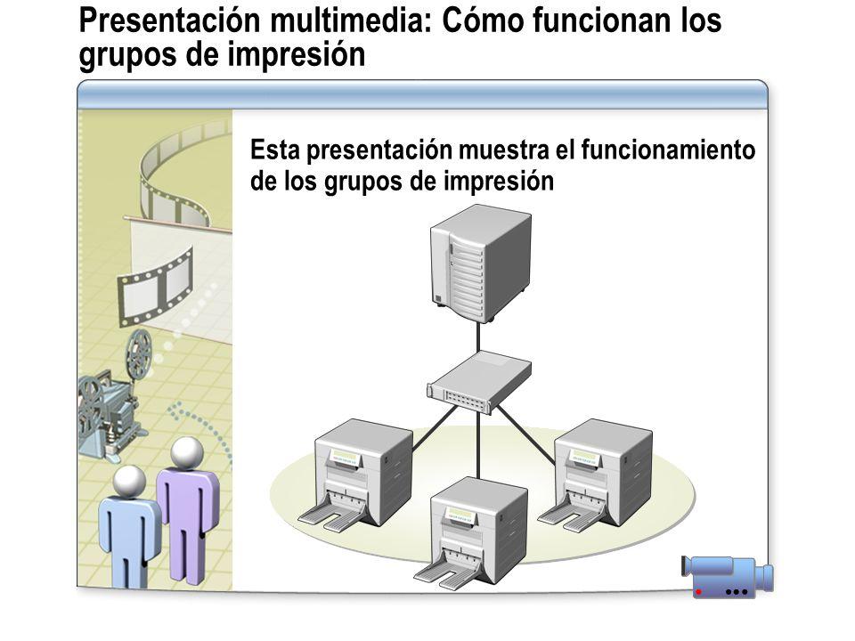 Presentación multimedia: Cómo funcionan los grupos de impresión
