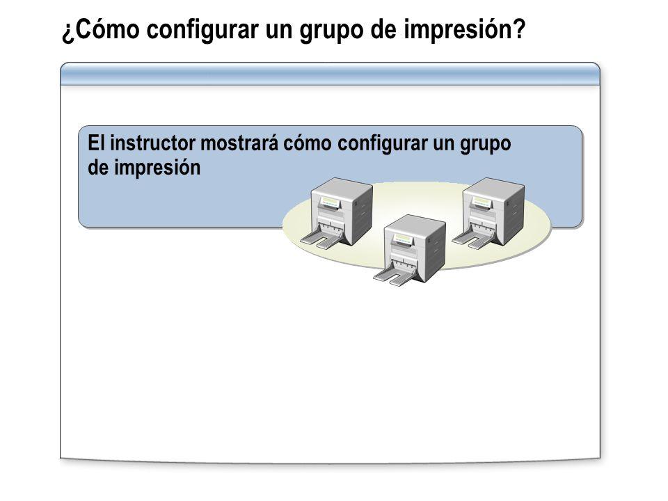 ¿Cómo configurar un grupo de impresión