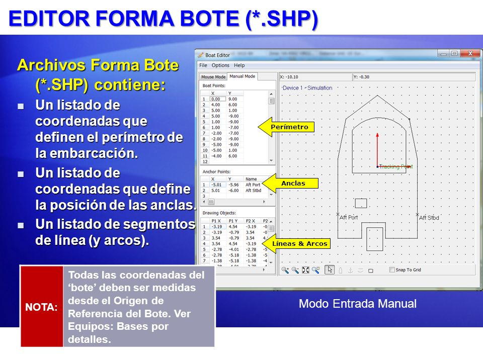 EDITOR FORMA BOTE (*.SHP)
