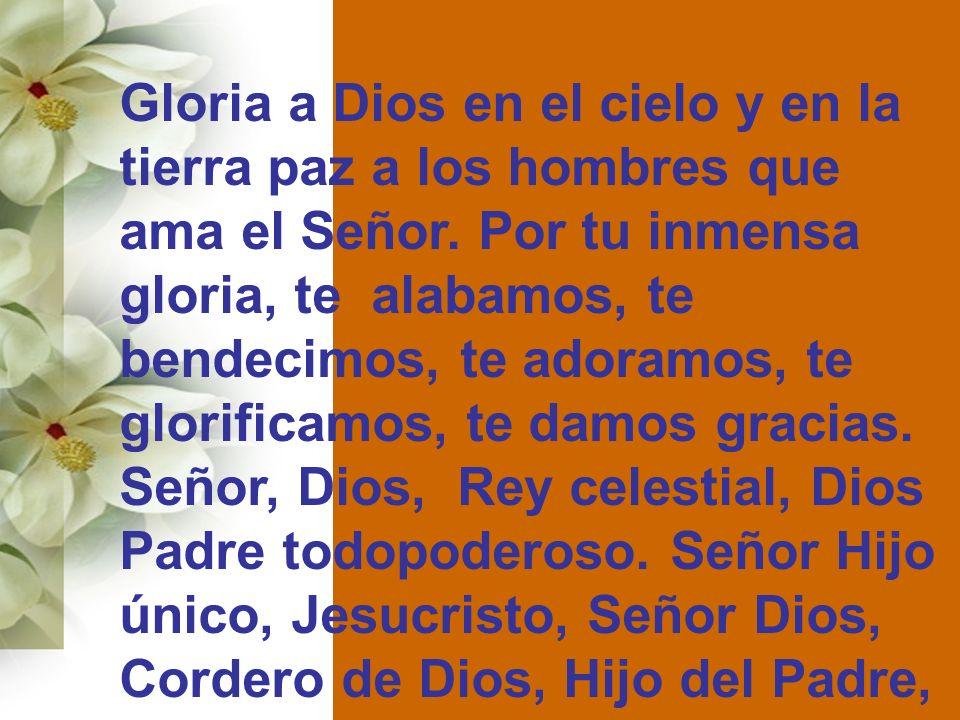Gloria a Dios en el cielo y en la