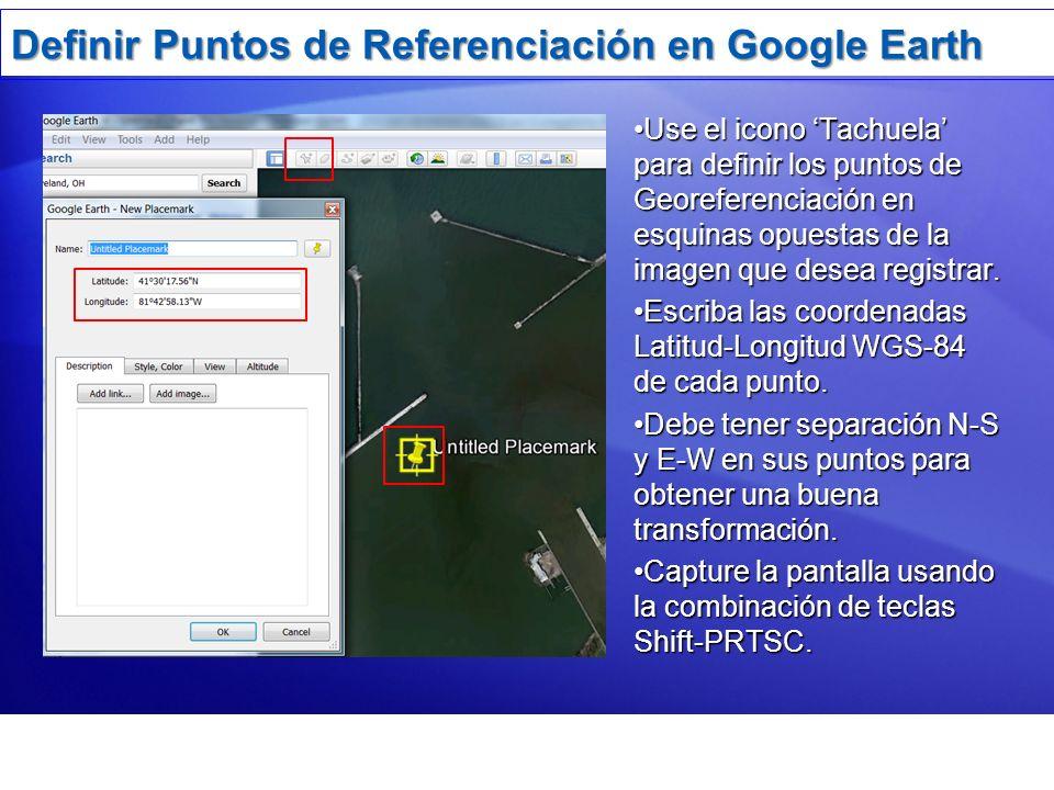 Definir Puntos de Referenciación en Google Earth