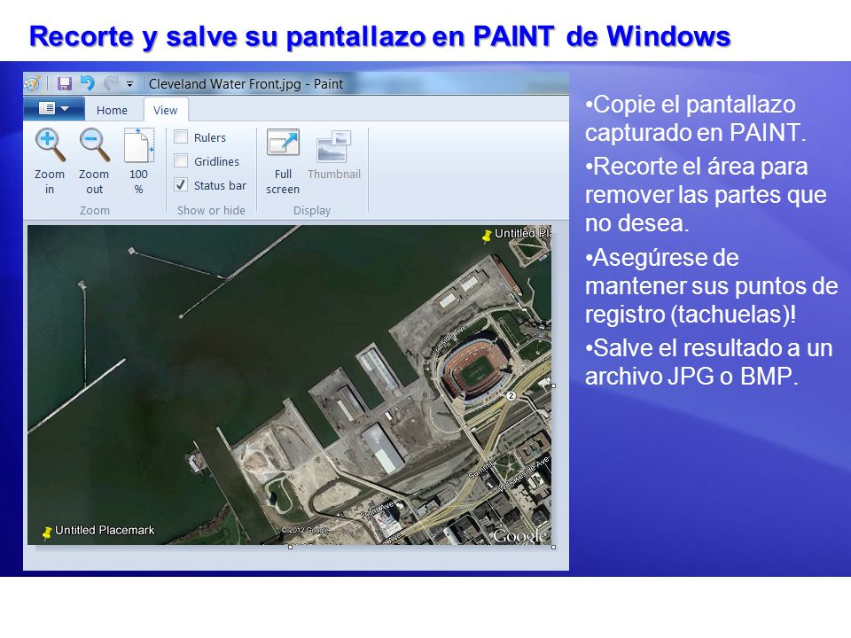 Recorte y salve su pantallazo en PAINT de Windows