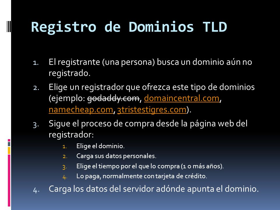 Registro de Dominios TLD